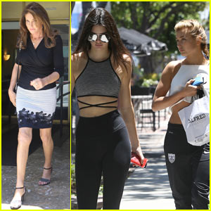 Kendall Jenner Brings Hailey Baldwin Along for Caitlyn Jenner Lunch Date!