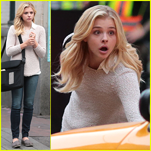 Chloe Moretz Almost Gets Run Over By A Cab On 'Brain of Fire' Set