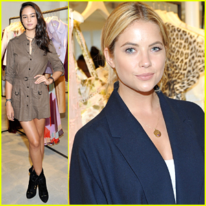 Ashley Benson & Courtney Eaton Stop By Zimmerman Melrose Place Flagship Grand Opening