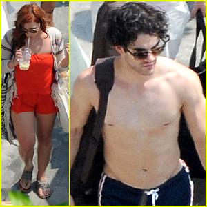 Darren Criss & Mia Swier Soak Up The Sun In Italy