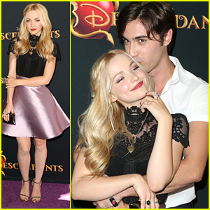 Dove Cameron Cuddles With Ryan McCartan On 'Descendants' Premiere Carpet - See The Pics!