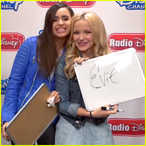 Dove Cameron & Sofia Carson Play The Villain Game At Radio Disney - Watch Here!