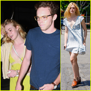 Elle Fanning Has Movie Date Night with Zalman Band