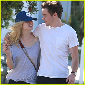 Elle Fanning & Zalman Band Laugh It Up While On A Walk