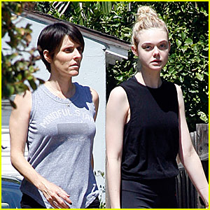 Elle Fanning Is Ready to Work Out With a Pal