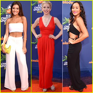 Daniela Nieves & Gracie Gold Wow On Orange Carpet at Kids' Choice Sports 2015