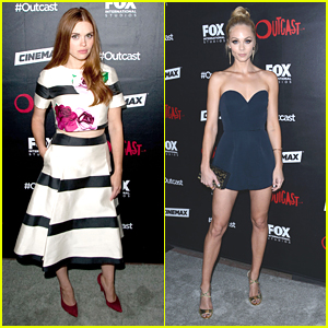 Holland Roden & Laura Vandervoort Glam Up For Comic-Con's Outcast Party