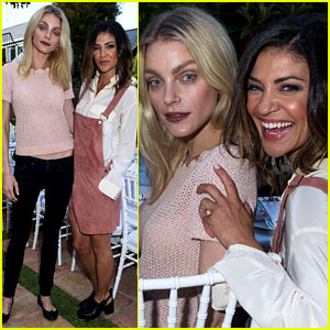 Jessica Szohr Has No 'Complications' with Jessica Stam at Just Jared & JustFab's Malibu Dinner!