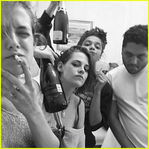 Kristen Stewart Spends Time with Friends in Paris Before Fashion Week!