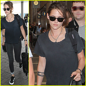 Kristen Stewart Looks Casual For LAX Airport Departure Before July 4th