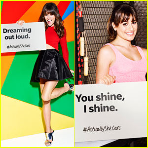 Lea Michele's Empowering #ActuallySheCan Campaign Is Here!