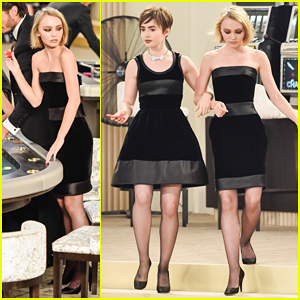 Lily Collins & Lily Rose Depp Link Arms for Karl Lagerfeld at Paris Fashion Week!