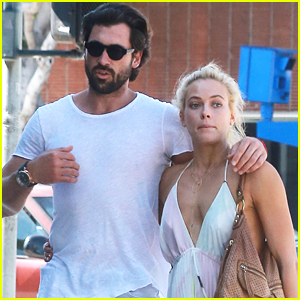 Maksim Chmerkovskiy & Peta Murgatroyd Lunch At Cecconi's After CNBC Special Debuts