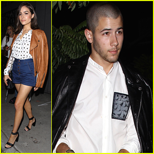 Nick Jonas & Ex Olivia Culpo Dine Across The Street From Each Other In West Hollywood