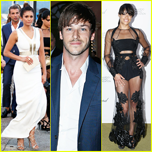 Nina Dobrev & Michelle Rodriguez Buddy Up at Leonardo DiCaprio's Foundation Gala!