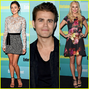 Paul Wesley & Phoebe Tonkin Step Out for EW's Comic-Con 2015 Party
