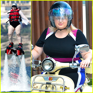 Rebel Wilson Goes Fly-Boarding In Ibiza - See The Pics!