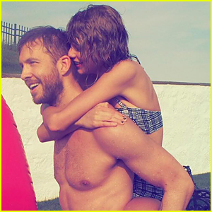 Taylor Swift & Shirtless Calvin Harris Look So In Love During July 4th Weekend!