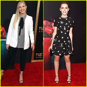 Veronica Dunne & Kiernan Shipka Step Out For 'The Gift' Premiere