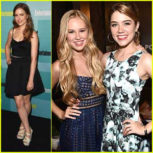 Scream's Willa Fitzgerald Meets Heroes Reborn's Danika Yarosh at Comic-Con 2015