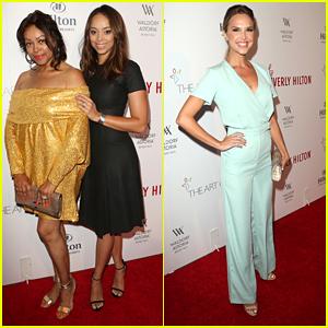 Arielle Kebbel & Amber Stevens West Celebrate Beverly Hilton's Diamond Anniversary