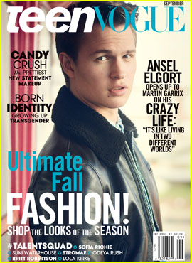 Ansel Elgort Covers 'Teen Vogue' September 2015!