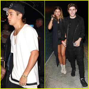 Austin Mahone & Sofia Richie Both Party With Friends at Kylie Jenner's 18th Birthday Bash