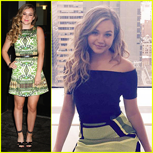 Brec Bassinger Heads To The Big Apple For 'Bella & The Bulldogs' Promo