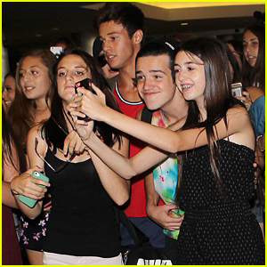 Cameron Dallas & Aaron Carpenter Surrounded By Welcoming Fans At LAX