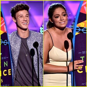 Cameron Dallas & Bethany Mota Win Web Star Awards at Teen Choice 2015!