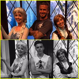Brooklyn Beckham Meets Elsa & Anna From 'Frozen'!