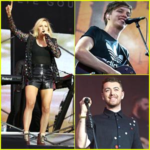 Ellie Goulding & George Ezra Rock Out V Festival 2015 At Weston Park