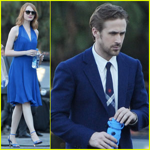 Emma Stone Teams Up With Ryan Gosling Again on 'La La Land' - See the Pics!
