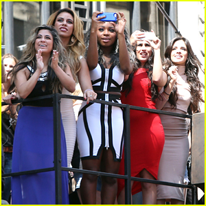 Fifth Harmony Join 'Hotel Transylvania 2' Stars For 'I'm In Love With A Monster' Video Premiere in Times Square