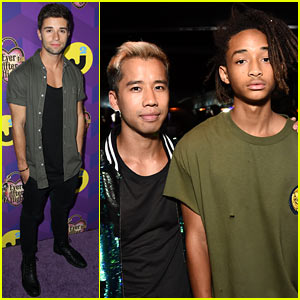 Jake Miller & Jaden Smith Power Up with Just Jared in Wonderland!
