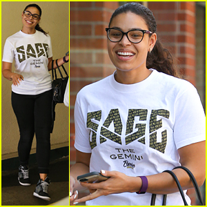 Jordin Sparks Wears Sage The Gemini T-Shirt After Gushing About Him