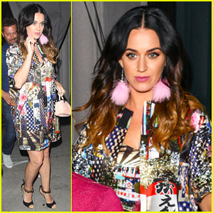 Katy Perry Goes Colorful Chic for Craig's Dinner