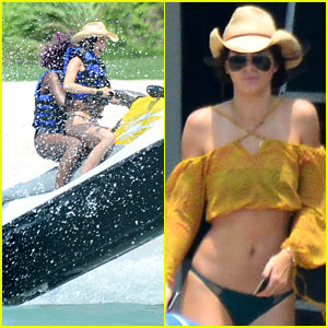 Kendall Jenner Doesn't Mess Around On a Jet Ski!