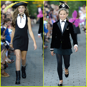Maddie Ziegler & Sister Mackenzie Wear Pirate Hats For Polo Ralph Lauren Children's Fashion Show