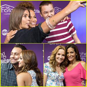 Maia Mitchell & Jonathan Sadowski Hit Up ABC Family Meet & Greet at D23 Expo