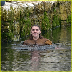 Game of Thrones' Maisie Williams Films a Scene in the Water!