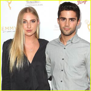 Max Ehrich & Veronica Dunne Couple Up For Pre-Emmys Cocktail Reception