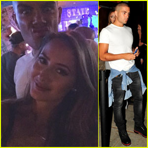 Max George & Girlfriend Carrie Baker Couple Up for Lawson Show