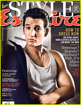 Miles Teller Shows Off His Arm Muscles for 'Esquire'!