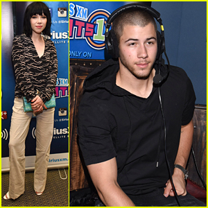 Nick Jonas & Carly Rae Jepsen Stop by Sirius XM Studios In LA