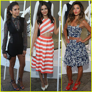 Nina Dobrev & Victoria Justice Are Two Stylish Ladies at NYC Fashion Party