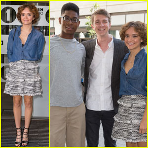 Olivia Cooke & Thomas Mann Promote 'Me and Earl and the Dying Girl' in London