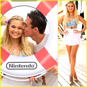 Olivia Holt Celebrates 18th Birthday With Boyfriend Ray Kearin On The Beach!