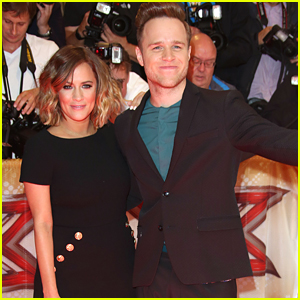 Olly Murs & Caroline Flack Squish Romance Rumors During 'X Factor UK' Press Launch