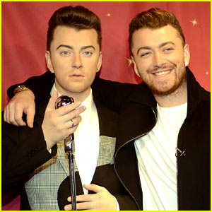 Sam Smith Meets His Wax Figure!